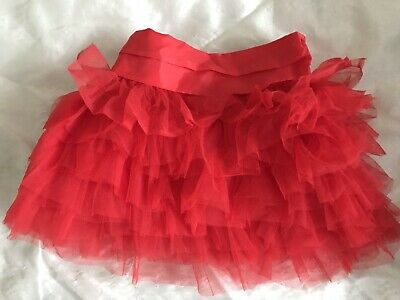 Baby Girls Red Tutu Layed Skirt By Matalan Size 9-12 Months.