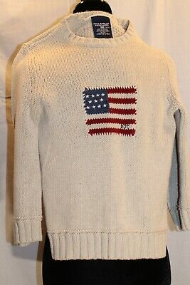 Polo Jeans Co. Ralph Lauren American flag sweater youth/boys small