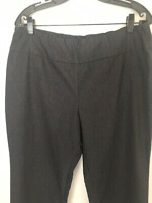 Tribal Womens Dark Gray Size 14W Plus Pull-On Solid Stretch Pants