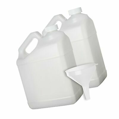 2 Pack - 1 Gallon Plastic Bottle - Large Empty F-Style Jug Container with Chi...