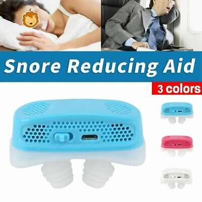Micro CPAP Anti Snoring Electronic Device Sleep Apnea Stop Snore Aid Stopper #T