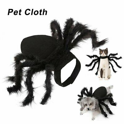 Cat Dog Halloween Pet Dress Up Spider Wing Clothes for Puppies Cats Costumes #T