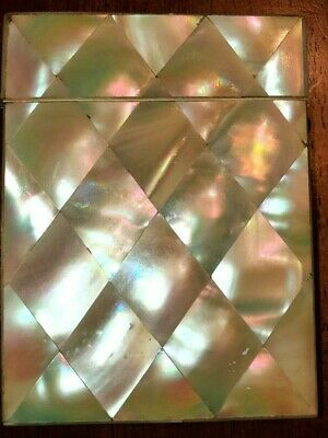 Antique Mother of Pearl Card Case, Victorian Calling Card Case, Card Holder