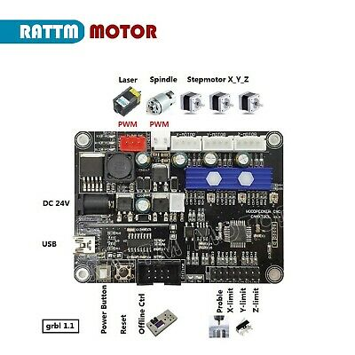 Upgrade 3 Axis GRBL 1.1J USB Port CNC Engraving Machine Laser Controller Board