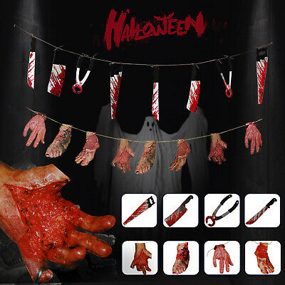 Bloody Spooky Halloween Party Hanging Decorations Haunted House Weapons Banner