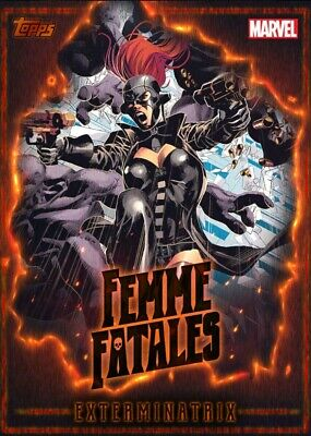 Exterminatrix Femme Fatales Heroines of Marvel Rare Topps Marvel Collect