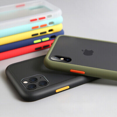 For iPhone 11 11 Pro Max X XS 8 shockproof matte translucent silicone case Cover