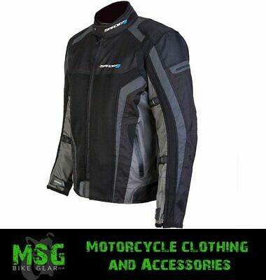 Spada Corsa GP AIr Motorbike Motorcycle Jacket - Black/Grey S