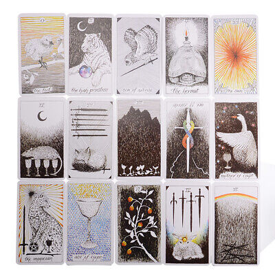78 pcs The Wild Unknown Tarot Deck Card  Fortune Telling Cards Great Gift
