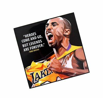 Pop Art Famous Basketball Player Inspiration Quotes [ Kobe Bryant ] Framed Ac...