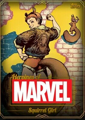 Squirrel Girl - Heroines of Marvel - Super Rare Gold - Topps Marvel Collect
