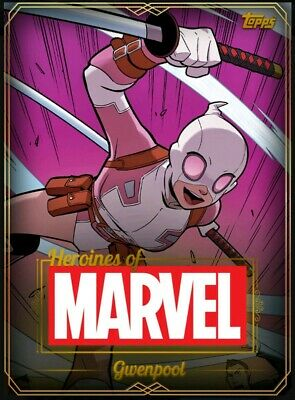 Gwenpool - Heroines of Marvel - Super Rare Gold - Topps Marvel Collect