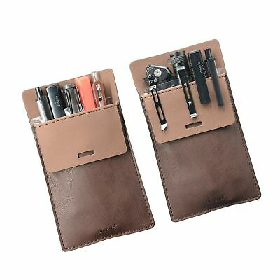 Pocket Protector, Leather Pen Pouch Holder Organizer, for Shirts Lab Coats, H...