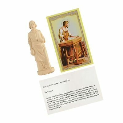 Saint Joseph Statue House Seller Home Selling Kit with Instructions and Praye...