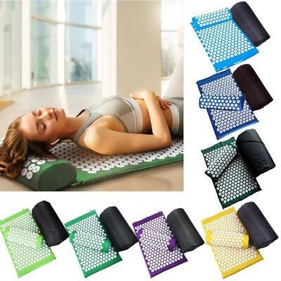 Massager Cushion Yoga Mat Acupressure Stress Back Body Spike Acupuncture New
