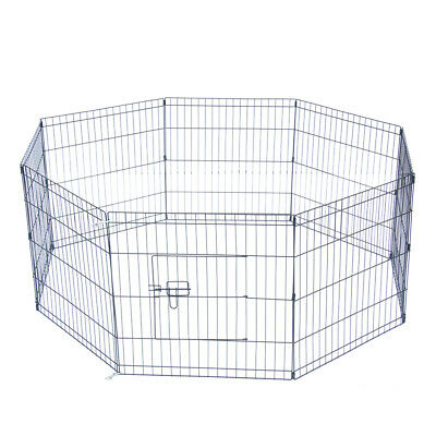 """24"""" Pet Play Pen Tall Wire Crate Fence Dog Cat Folding Exercise Yard 8 Panel"""