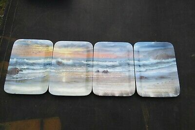 4 BRADFORD FOOTPRINTS IN THE SAND  shron rickert  COLLECTOR PLATES