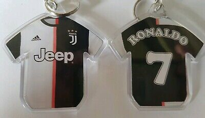 Juventus FC styled personalised keyring with badges