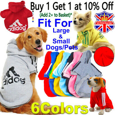 Small/Large Pet Dog Clothes Shirt Coat Jacket Hoodie Spring Warm Sweater Apparel