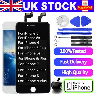 For iPhone 5C 6 7 8 Plus LCD Display Accembly Digitizer Touch Screen Replacement