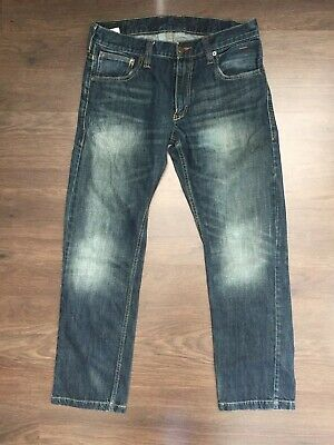 Mens Levi Strauss 514 Slim Straight Red Tab Blue Jeans W32 L30