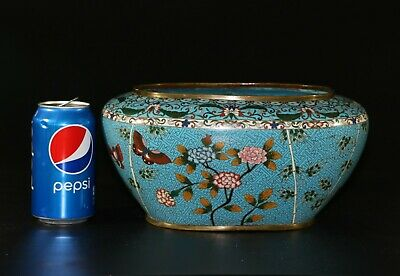 A Stunning magnificent Antique Qing Chinese cloisonne brush washer bowl 935