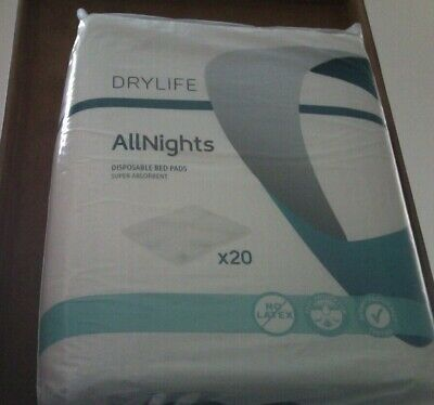 Drylife All Nights Disposable Bed Pads (60 x 90)   60 pads