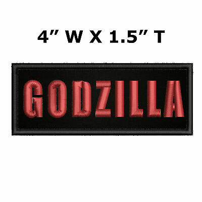 "Godzilla Horror Movie Series 4"" W x 1.5"" T Embroidered Iron/Sew-on Patch"
