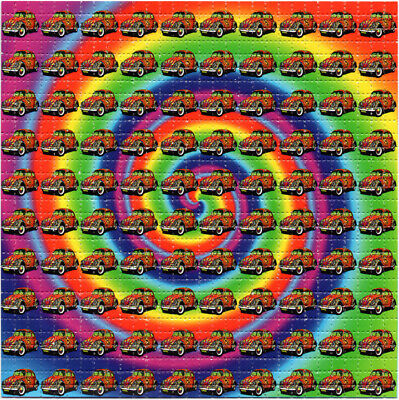 Hippy VW BUG Spiral BLOTTER ART perforated sheet paper psychedelic art