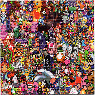 Games Gone Wild BLOTTER ART perforated sheet paper psychedelic art