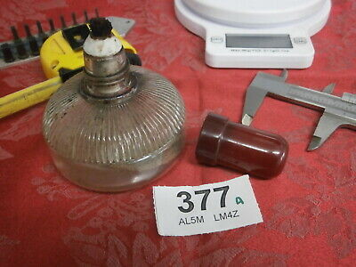 Methylated Glass Burner & Lid engravers clock & barometer wax dial work etc 377A