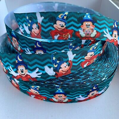 YARD DISNEY MICKEY MINNIE MOUSE RETRO BAKING GROSGRAIN  RIBBON CHARACTER #115