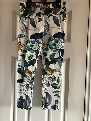 Next Girls Floral Trousers Age 8 BNWT
