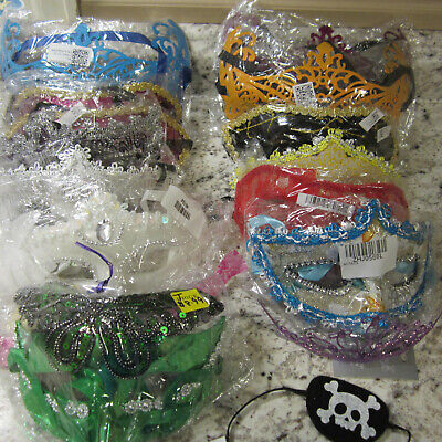 Mardi Gras Party Eye Mask 15 items, various colors, styles & shapes #B