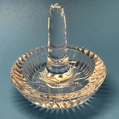 Waterford Crystal Water Dish/Tray, Signed, Mint
