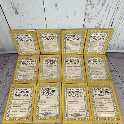 National Geographic Magazine 1936 COMPLETE YEAR No Maps Lot x12