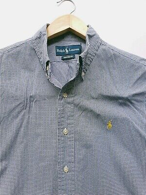 Super Cool 100% Genuine Mens Ralph Lauren Custom Fit Check Shirt Medium chest 46