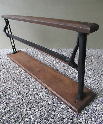 "Antique Paper Roll Cutter 24"" Country Store, Cast Iron Wood, Vintage Primitive"