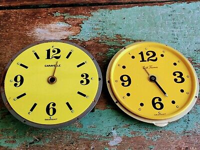 Antique Yellow Clock Face Parts Germany Seth Thomas Caravelle