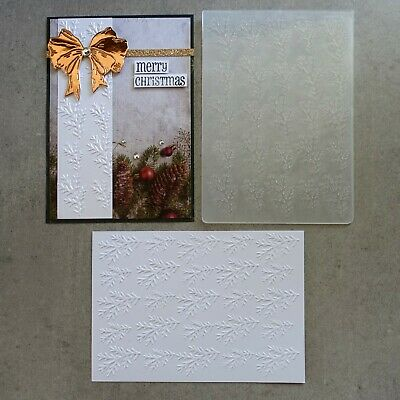 central craft EMBOSSING FOLDER A2 CHRISTMAS PINE BRANCH CARDMAKING CCC-4001