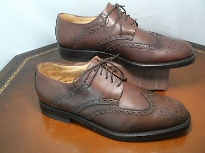 Vito Rufolo ITALY Bourbon Derby Wingtip Oxfords Mens Sz 8.5 M
