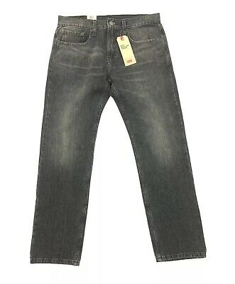 NEW Levi's Strauss 502 Regular Taper Warp Stretch Black Mens Denim Jeans Red Tab