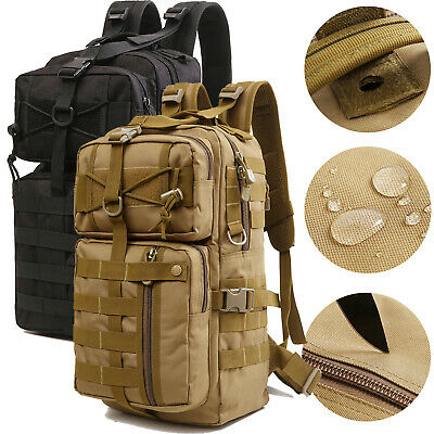 30L Tactical Military Backpack Molle Hiking Camping Rucksack Army Assault Pack