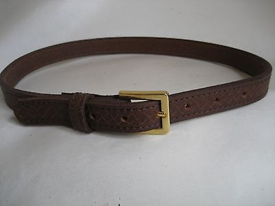 Genuine Tan Embossed Leather Kids/Childrens Belt