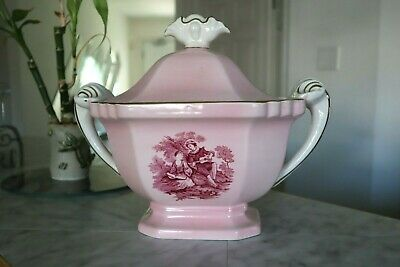 Vintage STAFORDSHIRE Grays Pottery Soup Tureen And Lid (England)