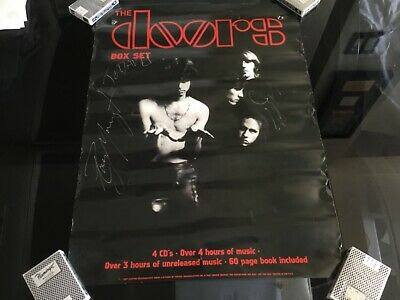 THE DOORS Ray Manzarek & Robby Krieger Hand Signed In Ink Poster 18X24
