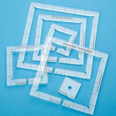 Quilting Templates Rulers Set Of 6 Squares For Low Shank Sewing Machines