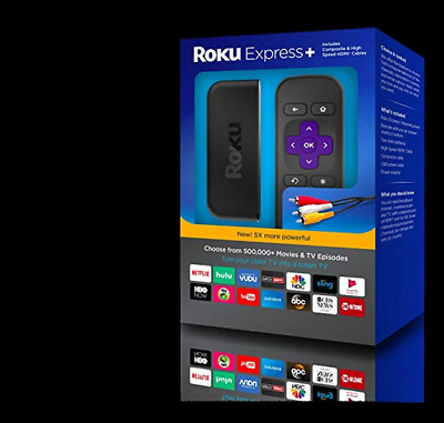 Brand New Roku Express+ HD 1080p Ditital Streaming Media Player (3910RW)