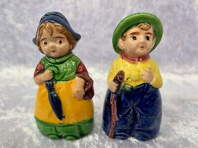 1950's Vintage Novelty Figural Figures Salt and Pepper Shakers