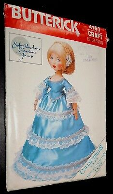 "Butterick 22"" Lady Doll Clothes Elegant Sewing Pattern 4161 Uncut Soft Porcelain"